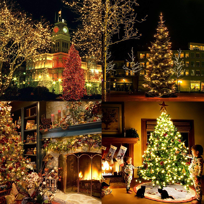 Рождественские уличные рождественские огни светодиодные гирлянды 100 м 10 м 5 м Luces Decoracion Сказочный свет Праздничные огни освещение гирлянда