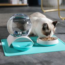 Dispensador de água bolha automática para gato gravidade dispensador bacia dispensador alimentador cão alimentadores fonte potável grande capacidade 2.8l