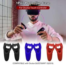 1 Pair Protective Case Silicone Cover For Oculus Touch Controller Oculus Quest Rift-s Controller protective silicone cover case for ps3 controller camouflage green blue