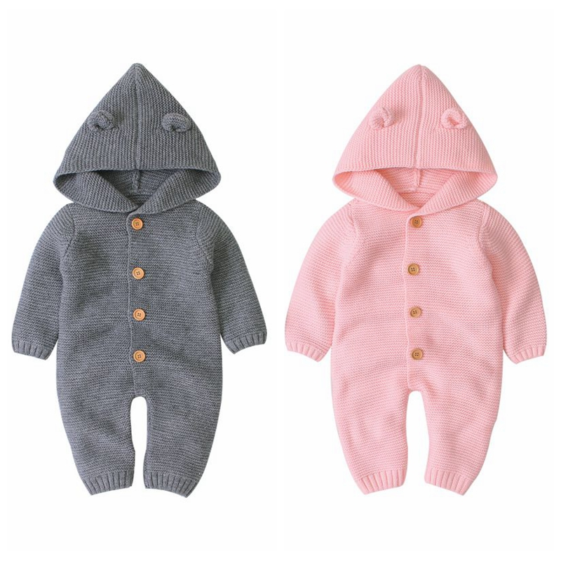 Xmas Baby Girls Jumpsuits Infant Boys Rompers Baby Toddler Overalls Infant Button Rompers Princess Baby Clothes Rompers 2019 New