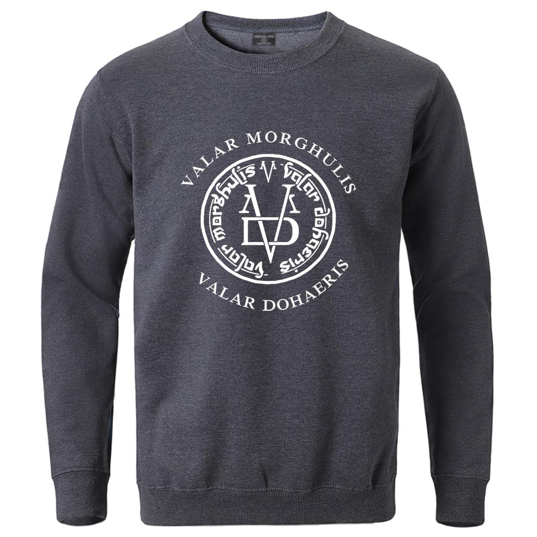 Game Of Thrones Winter Sweatshirt For Man 2020 Male Valar Morghulis Valar Dohaeris Hoodie Streetwear Fashion Cotton Crewneck Top
