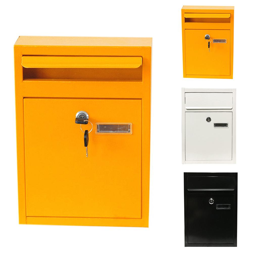 Mail Box Outdoor Wall Mount Security Locking Mailbox Letter Box For Home Garden Letter Newspaper Magazine Post Box Letterbox