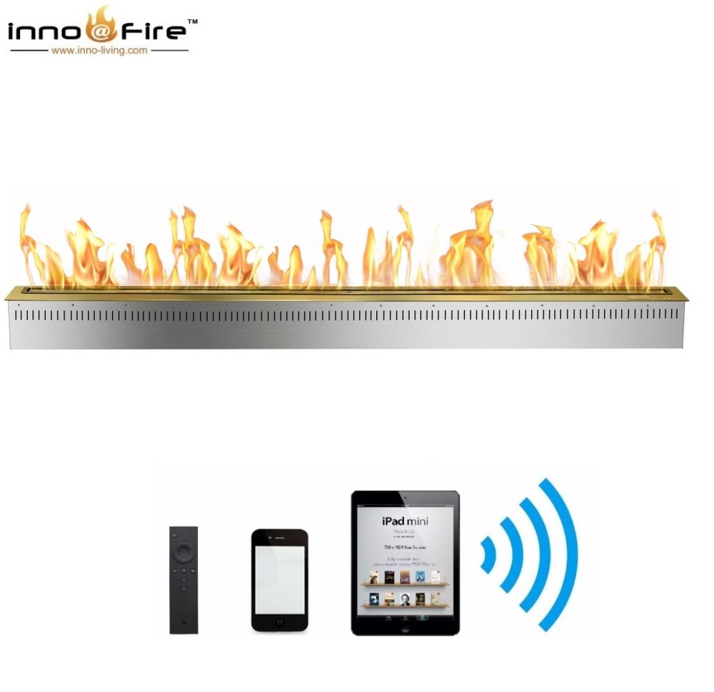 Hot Sale 72 Inches Smokeless Fire Pit Indoor Wifi Control Bioethanol Fires