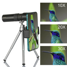 4K 10-300x40mm Super Tele Zoom Monoculaire Telescoop Met Bak4 Prisma Lens Voor Reizen Strand Jacht Outdoor Activiteiten Sport