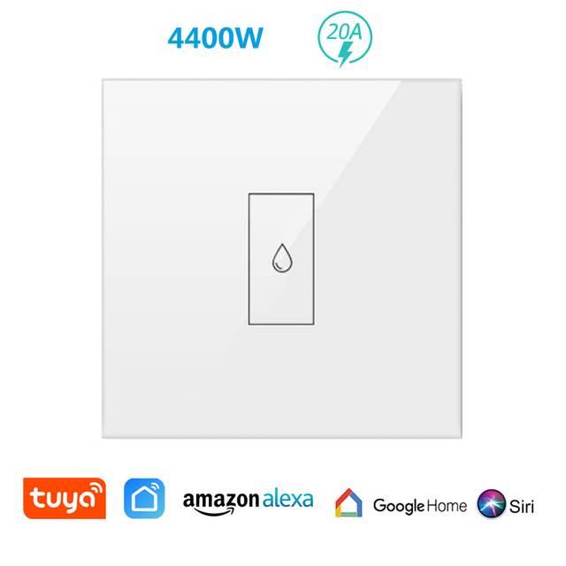 Smart Life WiFi Boiler Water Heater Switch 4400W App Remote ON OFF Timer Schedule Voice Control by Google Home Alexa Siri