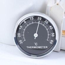 1Pc Mini samochód Auto termometr samochodowy higrometr przyrządy do pomiaru temperatury mechanika ornament dekoracyjny zegar akcesoria samochodowe