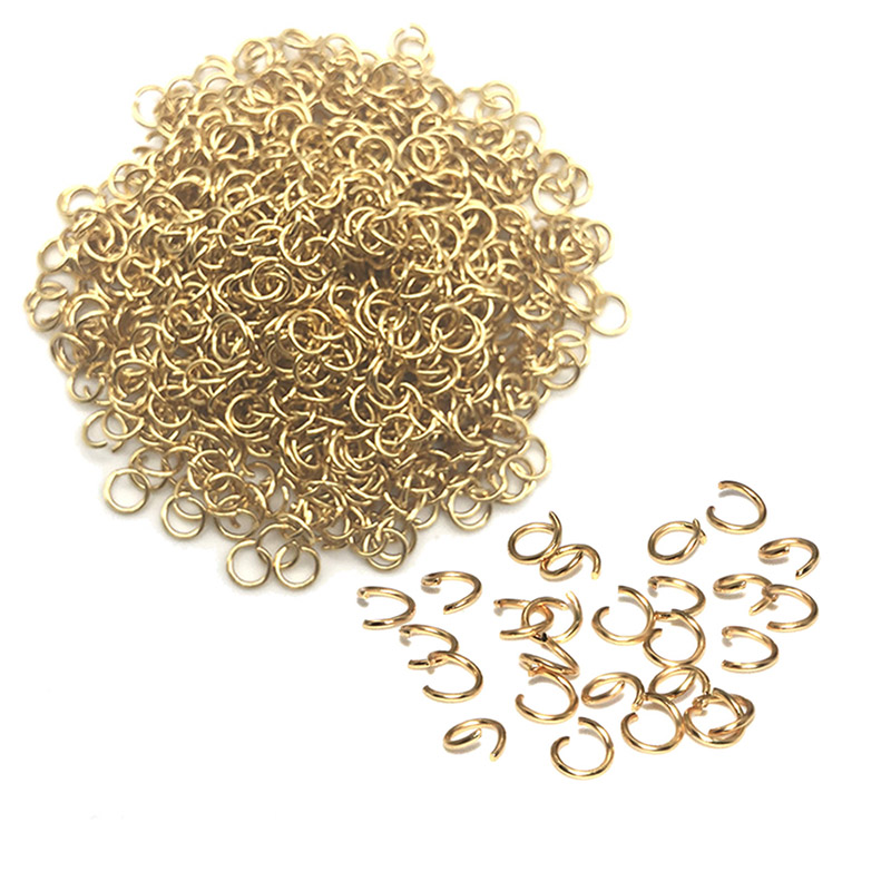 200PCS 100% Gold Stainless Steel Jump Rings Split Rings Connector For Jewelry Making DIY Necklace Accessories Wholesale Findings