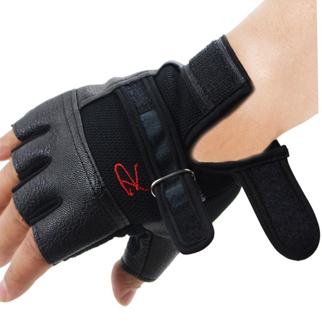 Men Women Gym Gloves Weight Lifting Bodybuilding Weight Lifting Gloves Fitness Training Gloves With Lengthen Wrist Straps 1011(China)