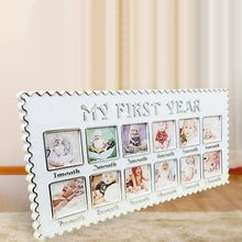 Newborn 12 Months Baby Growth Memorial Photo Picture Frame My First Year Birthday Gift Home Room Wall Decoration Drop Shipping