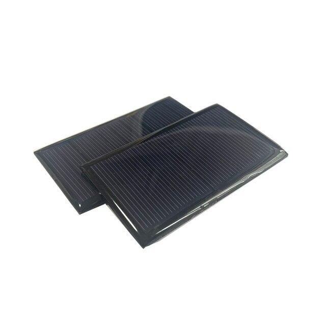 1 unidad Mini Mono 80*45MM Panel Solar 5V 75 mA para Mini panel solar de carga y generación de electricidad con Mini Cargador solar lipo