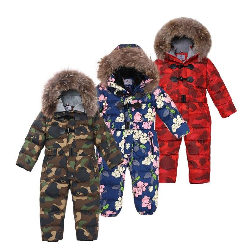 -30 degrés vêtements d'hiver enfants filles vestes Camouflage manteaux enfants filles snowsuit épaissir enfants veste garçons vêtements d'extérieur