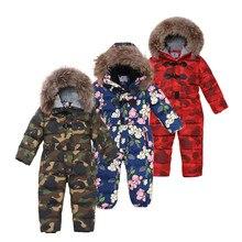 30 graus roupas de inverno crianças meninas jaquetas casacos de camuflagem crianças meninas snowsuit engrossar crianças jaqueta meninos outerwear