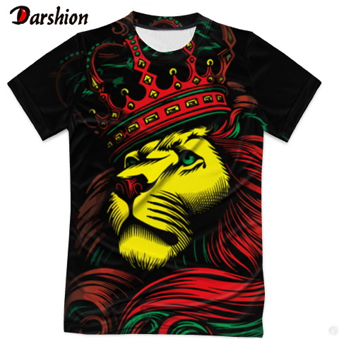 Lion King Tshirt Men Animal Tshirt Designed Stylish Summer 3D Short Sleeves Tops Clothing  Casual Brand Tops O-Neck Short Sleeve