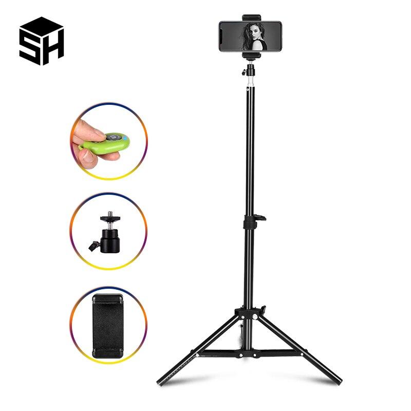 Selfie Light Stand Tripod With 1/4 Screw Head Bearing For Studio Softbox Flash Umbrellas Reflector Lighting Flashgun Lamp