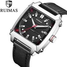 RUIMAS Automatic Mechanical Watch Top Luxury Brand  Men Leather Strap Luminous 5ATM Waterproof Wristwatch Clock Montre цена и фото