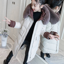 купить 2019 Children Winter Down Cotton Jacket Baby Girl Parka Kid Warm Outerwear Hooded Coat Overcoat Winter Overall For Girl дешево