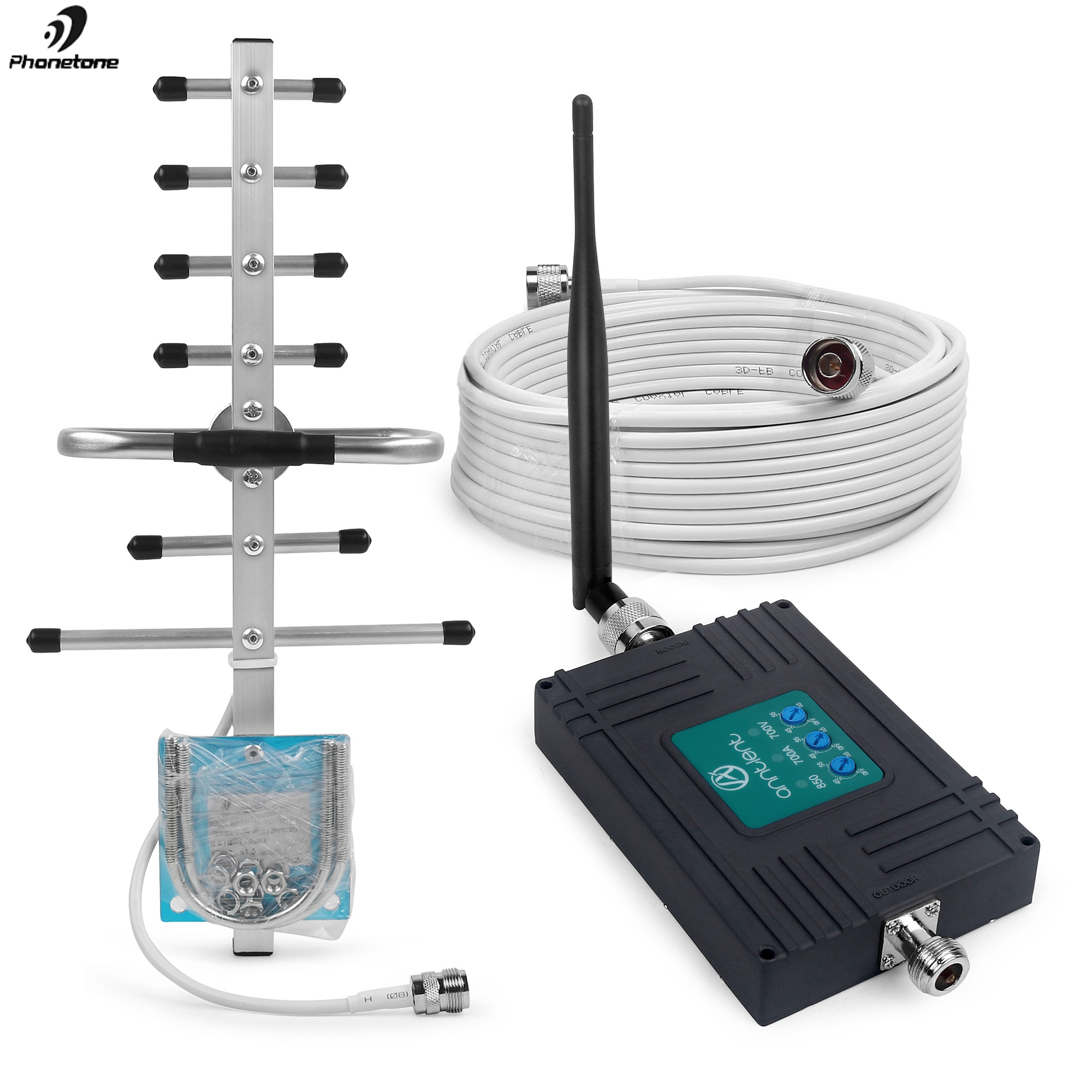 AT&T Verizon Cell Phone Signal Booster For US/CA Band 12,13,17,5 Phone Booster 850/700MHz 2G/3/4G Signal Repeater For Voice/Data