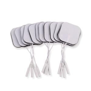 Image 4 - Almohadillas de electrodos reutilizables, parche de masaje autoadhesivo Tens, Estimulador muscular nervioso, masajeador de fisioterapia Digital, 5x5cm, 50/100 Uds.