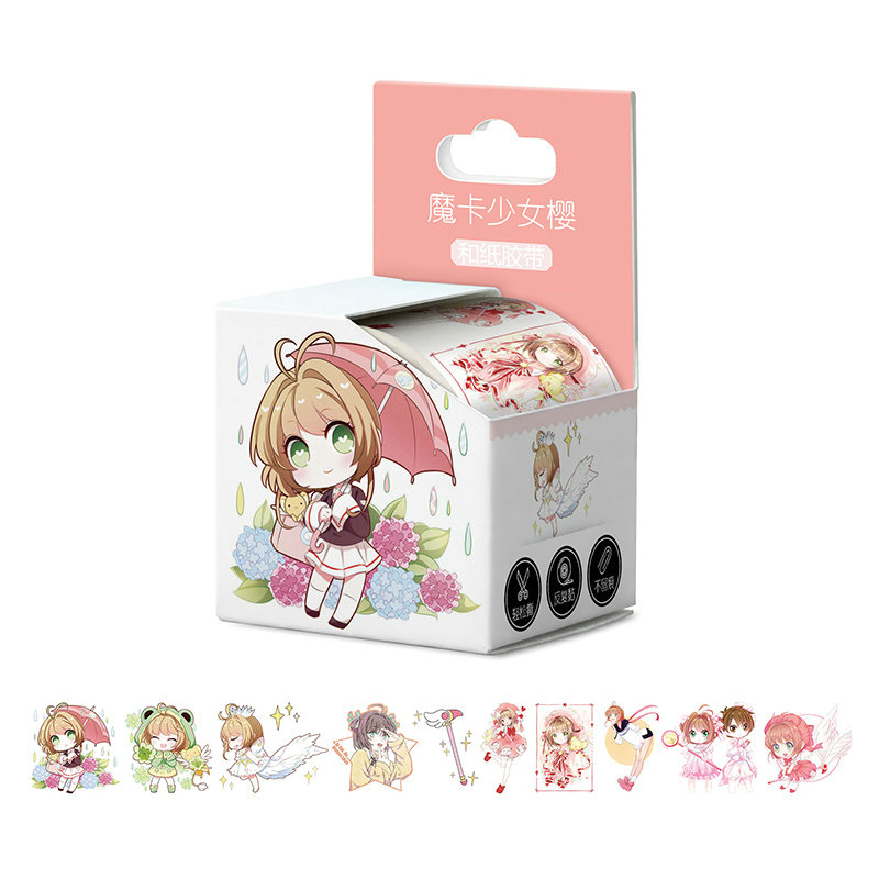 4cm*5m New Arrived Card Captor Sakura Cardcaptor Sakura Anime Washi Tape Adhesive Tape DIY Book Sticker Label Masking Tape