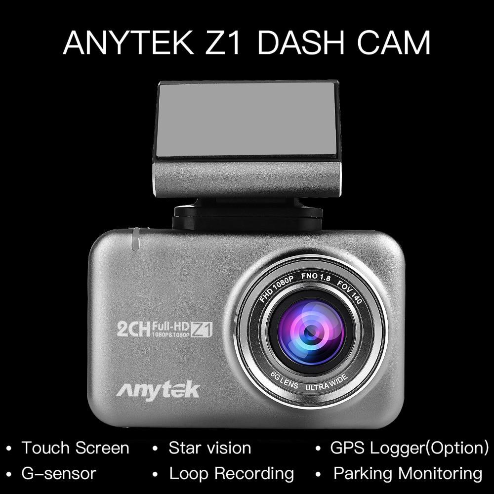 Caméra DVR pour voiture   Caméra Dashcam Full HD 1080P 170 °, écran tactile 2,35po, double caméra à tableau de bord, caméra vidéo, enregistreur de conduite, moniteur de stationnement