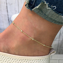 Korean Version of Gold Anklet, Simple Personality Chain Adjustable Female Anklet Wholesale