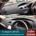 Для Mazda 3 Mazda3 BL 2009 2010 2011 2012 2013 Кожа приборной панели крышки тире коврик ковер автомобиля Средства для укладки волос RHD