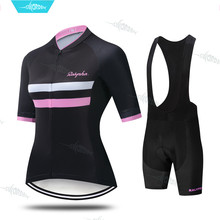 Cycling Clothes Summer Women Cycling Jersey Set Bicycle Clothing Short Sleeve Bike Jersey Ladies Shorts Cycle Sets Breathable(China)