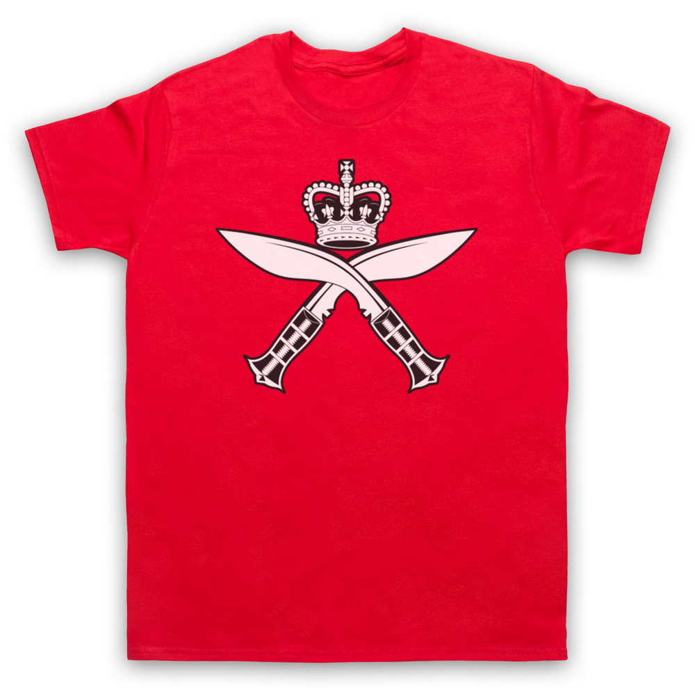 GURKHA INSIGNIA KUKRI REGIMENT INSPIRED ARMY LOGO ADULTS & KIDS T-SHIRT ALL SIZE Tee Shirt Free Shipping Light image