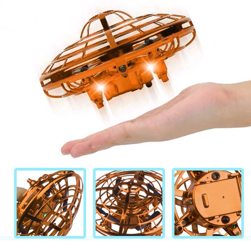 Three-axis Intelligent Sensory Suspension Flying Saucer Interaction Hand Operated Obstacle Avoidance Induction