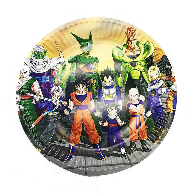 Dragon Ball Thema Einweg Geschirr Set Papier Platte Tasse Geburtstag Baby Shower Party Geschirr Liefert Dekorationen Luftballons