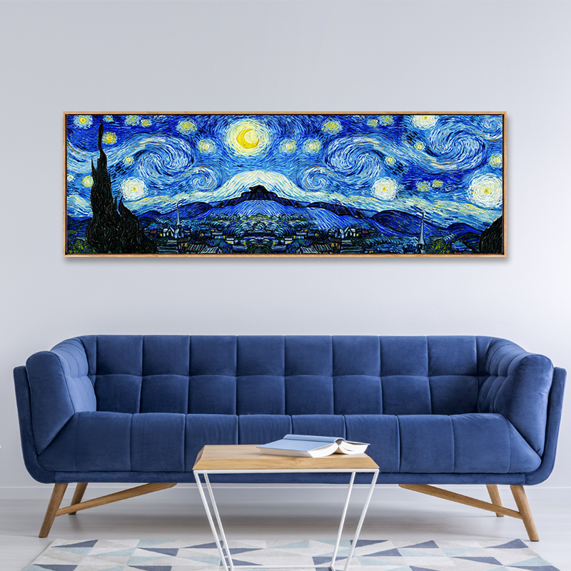 Abstract Famous Van Gogh Starry Night Canvas Oil Painting Wall Art Prints