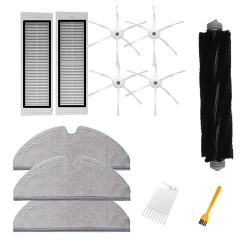 12PCS Main Brush Side Brushes HEPa Filter Cleaning Tool Replacements for Xiaomi Xiaowa Roborock Vacuum Cleaner