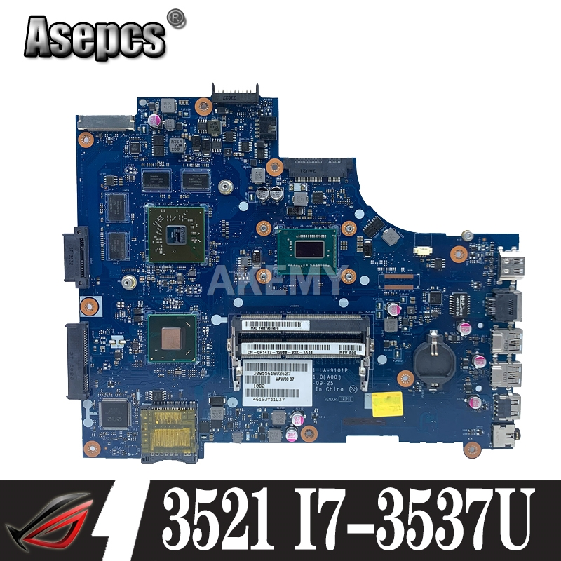 For DELL inspiron 3521 5521 V2521 LA-9101P CN-00P55V 00P55V 0P55V Laptop Motherboard with I7-3537U cpu and HD8730M 2GB gpu work(China)