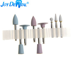 9pcs/Kit Dental Composite Polishing kit RA 0309 3 Ceramic and 6 Silicone Rubber Polishers For Low Speed Handpiece Contra Angle