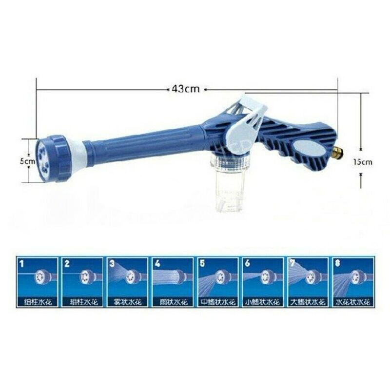 Купить с кэшбэком 8 Nozzle Ez Jet Water Soap Cannon Dispenser Pump Spray Gun Car Washer US