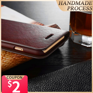 Image 1 - Genuine Real Leather Wallet Card Holder Flip Case Cover For Note 10 + Note 9 Samsung S20 Ultra S20 Plus S10 S10E S9 Plus Cases