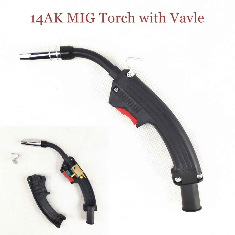 14AK MIG Torch Body Valve Integrated 180A MAG Torch Air Cooled Welding Gun MB 15AK 14AK Welding Torch Head