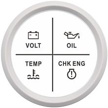 Цифровой вольтметр для мотоцикла, датчик давления масла, температура воды, сигнализация двигателя 9-32 В, красная подсветка