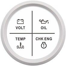 Cyfrowy motocykl woltomierz alarmu miernik miernik ciśnienie oleju temperatura wody Alarm silnika 9-32V czerwone podświetlenie