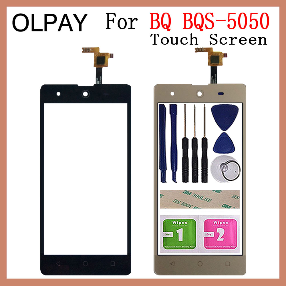 Mobile Phone Touch Screen 5.5'' Inch For BQ BQS-5050 BQS 5050 Front Glass Touchscreen Sensor Panel Repair And Tools