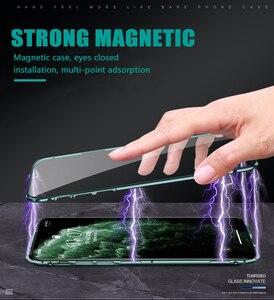 Image 5 - Funda magnética de Metal a prueba de golpes para Iphone, funda de vidrio templado de doble cara para Iphone 11, 6, 6S, 7, 8 Plus, X, XS, XR, XS, Max, 11 Pro Max, 360