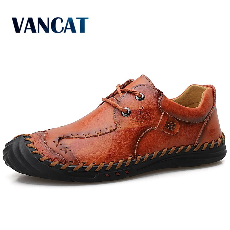 New Summer Casual Shoes Breathable Genuine Leather Men's Shoes  Handmade Loafers Men Rome Shoes Flat Moccasins Men Sneakers