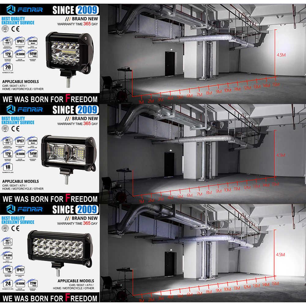 Barre de voiture led rampe lumière-diode émettrice led feux de travail diode antibrouillard lumière led automobile auto phares vélo remorque ATV