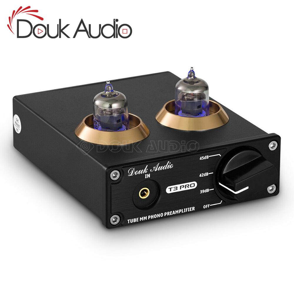 Douk Audio Mini HiFi MM Phono Stage Turntable Preamp Stereo Audio Vacuum Tube Preamplifier