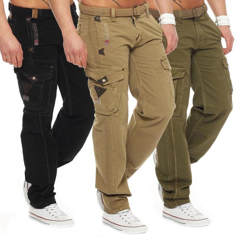 ZOGAA Men Cargo Pants Men Multi-Pocket Overall Male Combat Trousers Casual Tooling Tousers Army Green Cargo Pants Men Size S-2XL