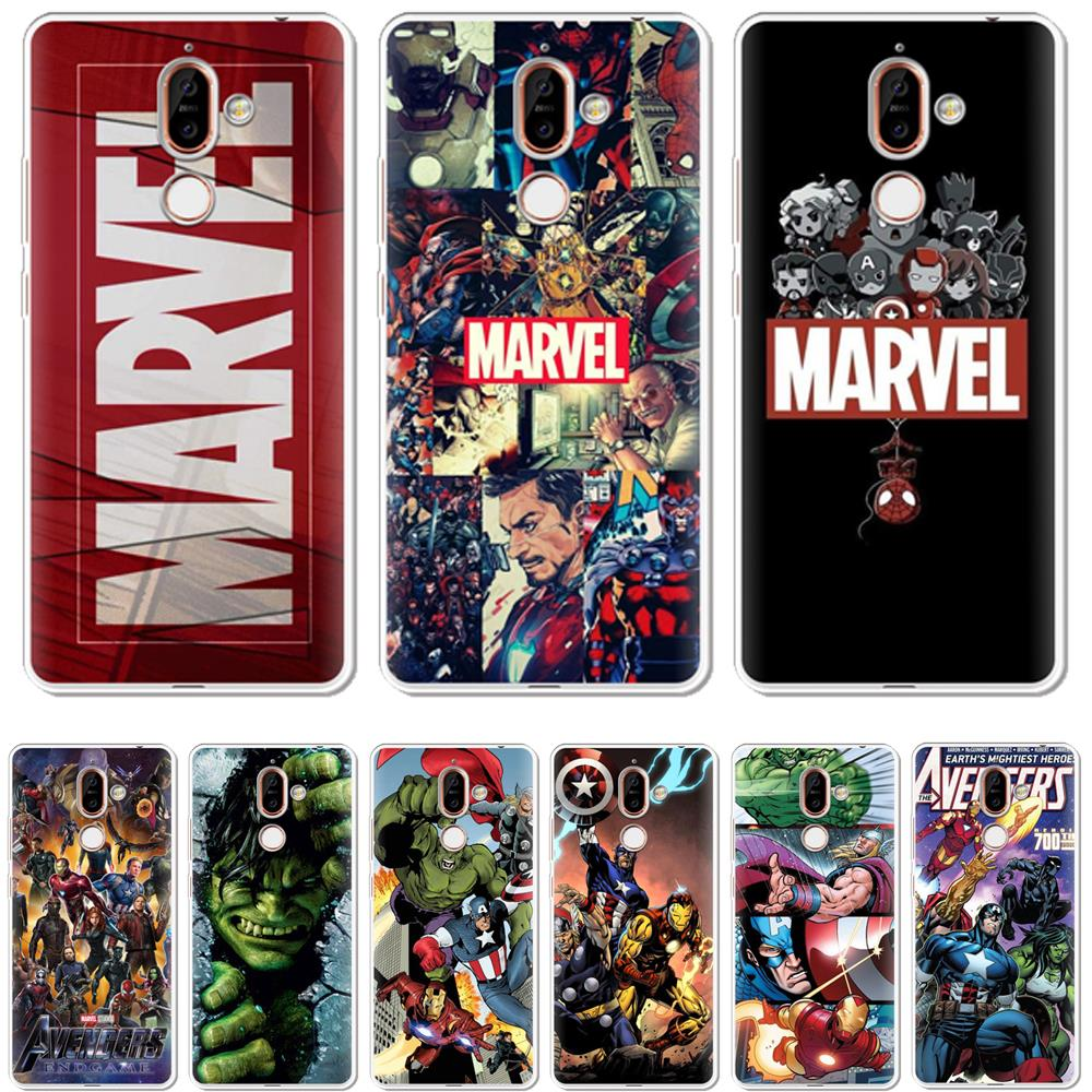 Marvel Phone clear TPU <font><b>Case</b></font> For <font><b>Nokia</b></font> 8 7 6 5 3 2 1 <font><b>Nokia</b></font> 2.1 2.2 3.1 3.2 4.2 5.1 6.1 6.2 7.1 <font><b>8.1</b></font> Plus X71 2018 <font><b>Silicone</b></font> conque image