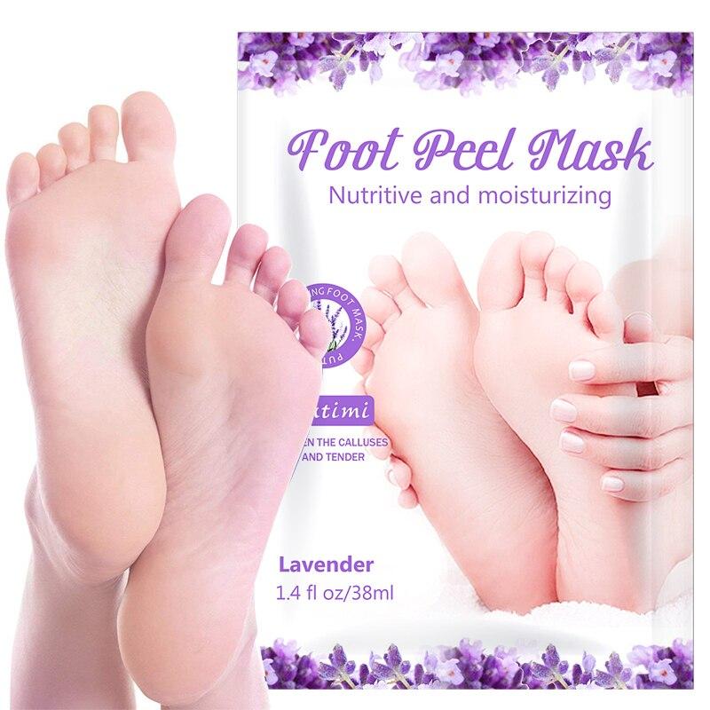 PUTIMI 1 упаковка отшелушивающая маска для ног Удаляет мозоли омертвевшей кожи носки для педикюра спа каблуки пилинг маска для ног