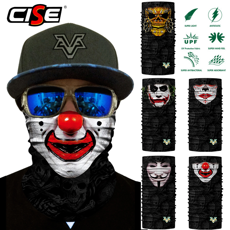 Seamless Scarf Neck Gaiter Face Mask Joker Clown Bandana Motorcycle Bicycle Cycling Outdoor Scarves Sun Windproof Head Shield