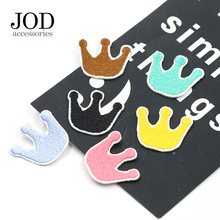 Colored Crown Thermal Stickers on Clothes Children Iron on Badges Patch Applique Ironing Embroidered Patches for Clothing Kids 2 pieces car embroidered patch iron on clothes stickers ironing patches for clothing cap children cartoon badges applique diy