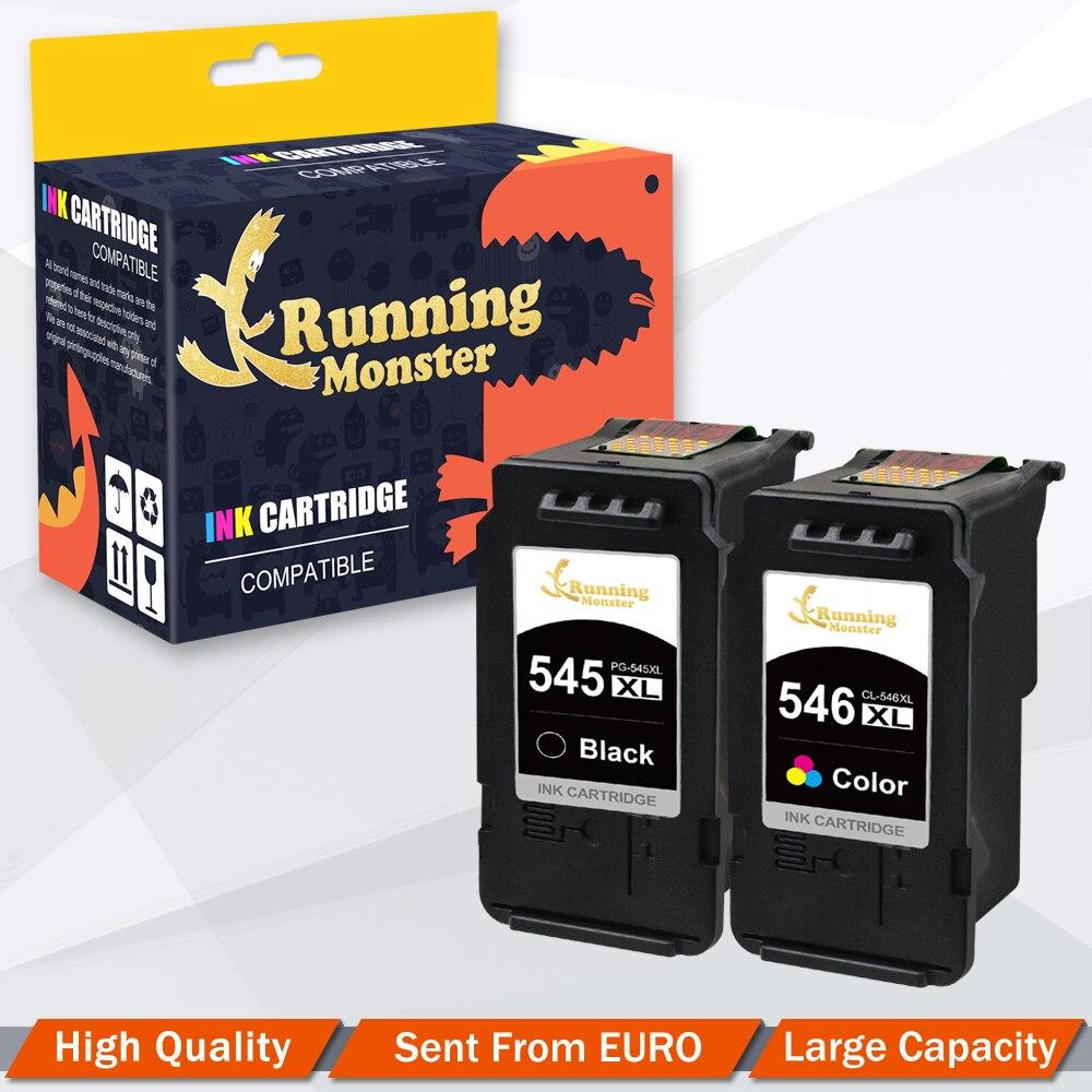 2 pièces PG545 CL546 Cartouche D'encre Pour Canon PG 545 CL 546 iP2800 iP2840 iP2850 iP2855 MG2400 MG2450 MG2900 MG2920 MG2950 imprimante